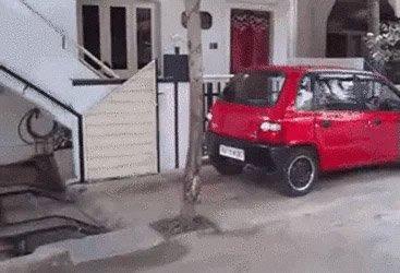 Ovanligt smart parkering